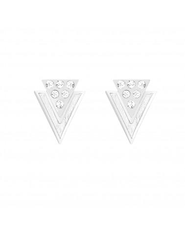 Srebrne kolczyki trójkąty z kryształkami SWAROVSKI® CRYSTAL