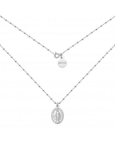 Srebrny naszyjnik z medalikiem