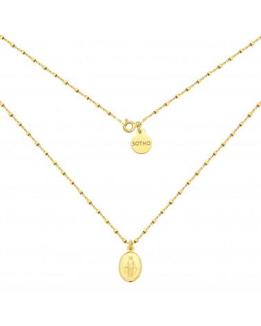 Złoty naszyjnik z medalikiem