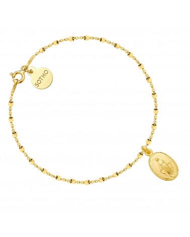 Złota bransoletka z medalikiem