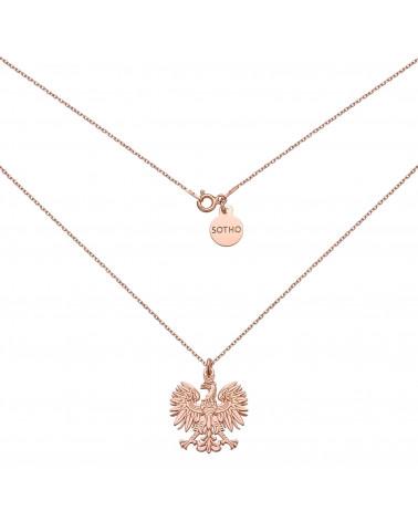 Naszyjnik z różowego złota z orłem