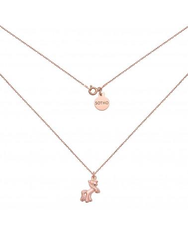 Naszyjnik z kucykiem z różowego złota