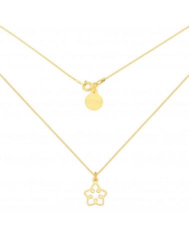 Złoty naszyjnik z ażurową gwiazdką