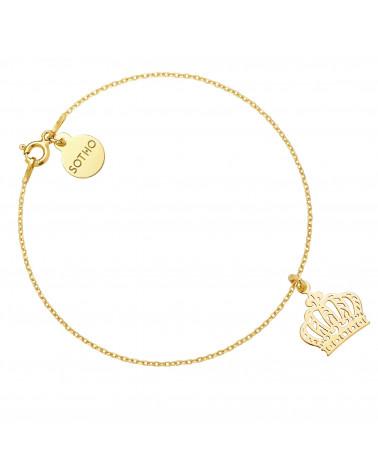 Złota bransoletka z koroną