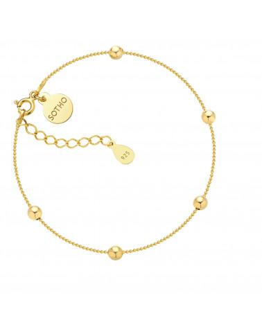 Złota bransoletka z kuleczkami