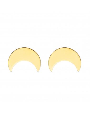 Złote kolczyki z księżycem