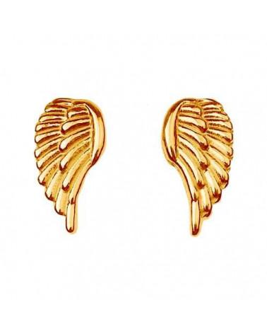 Złote kolczyki skrzydełka