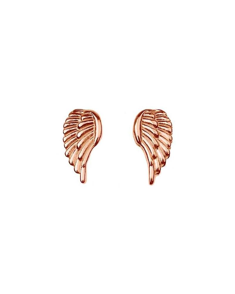 Kolczyki z różowego złota skrzydełka