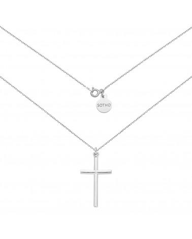 Srebrny naszyjnik z krzyżem