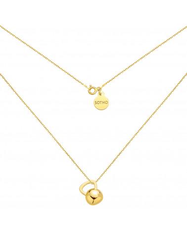 Złoty naszyjnik z kettlebell