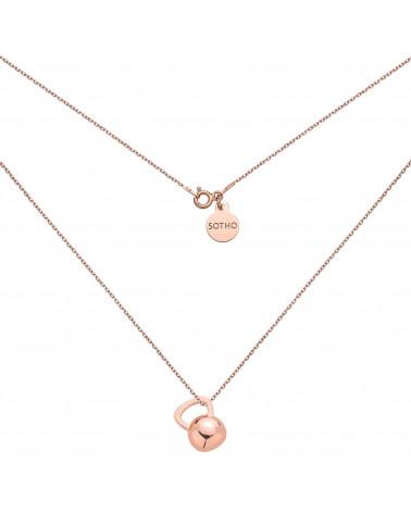 Naszyjnik z różowego złota z kettlebell