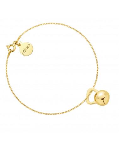 Złota bransoletka z kettlebell