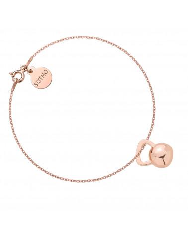 Bransoletka z różowego złota z kettlebell