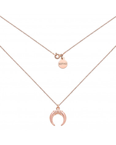 Naszyjnik z różowego złota  z rogami