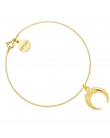 Złota bransoletka z rogami