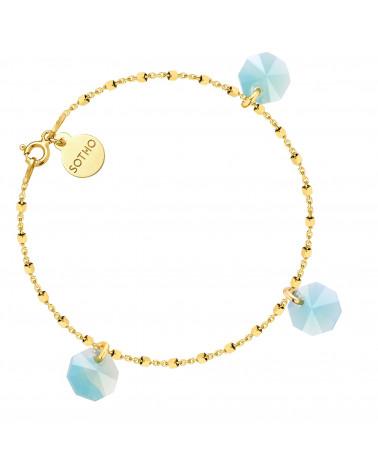 Złota bransoletka z kryształami SWAROVSKI® CRYSTAL