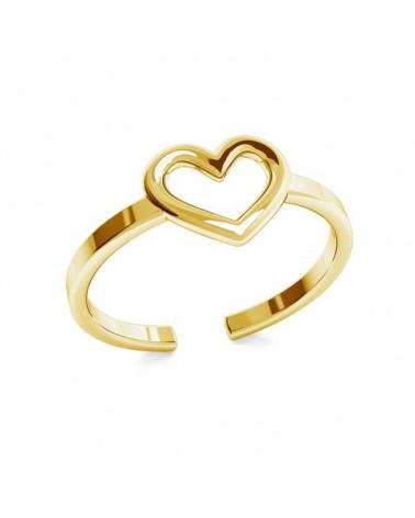 Złoty pierścionek z serduszkiem