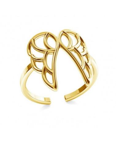 Złoty pierścionek ze skrzydełkami
