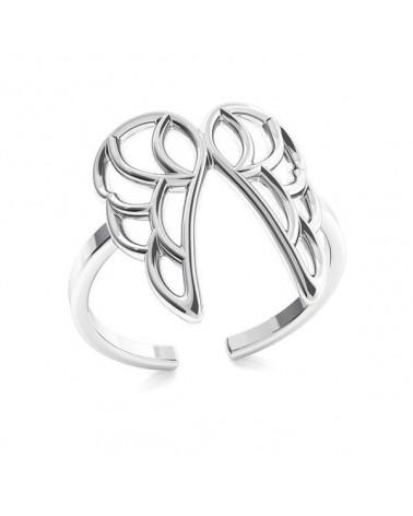 Srebrny pierścionek ze skrzydełkami