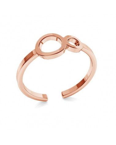 Pierścionek z różowego złota z nieskończonością