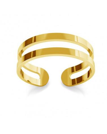 Złoty podwójny pierścionek