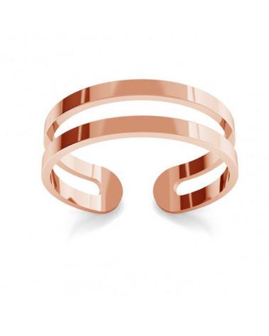 Podwójny pierścionek z różowego złota