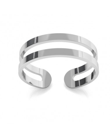 Srebrny podwójny pierścionek