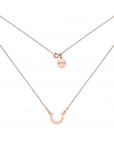 Naszyjnik z półksiężycem w różowym złocie