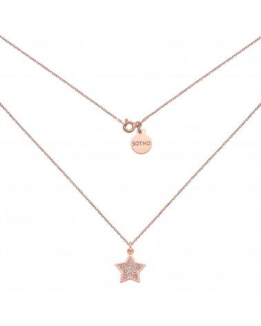 Naszyjnik z gwiazdką wysadzaną SWAROVSKI® CRYSTAL w różowym złocie