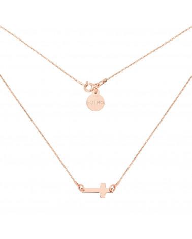 Naszyjnik z różowego złota z malutkim krzyżykiem