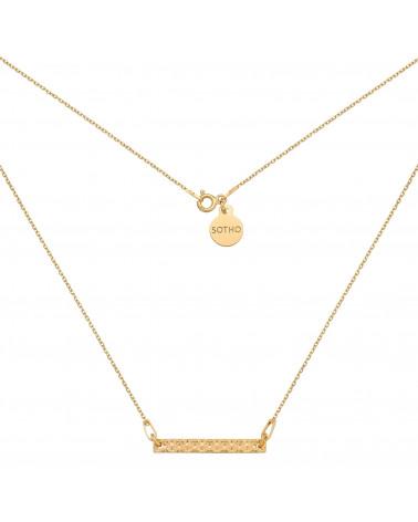 Złoty naszyjnik z chropowatą blaszką