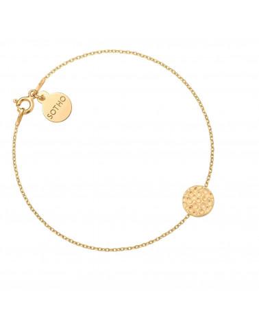 Złota bransoletka z chropowatym kółeczkiem