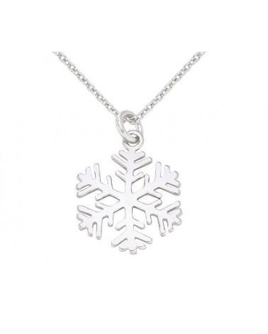 Srebrny naszyjnik ze śnieżynką