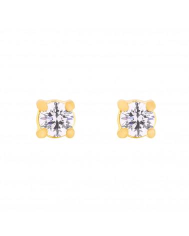 Złote kolczyki z kryształkami SWAROVSKI® CRYSTAL