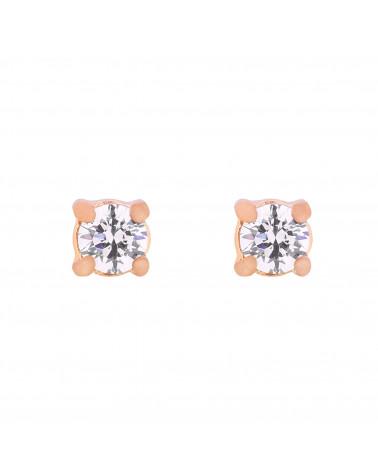 Kolczyki z różowego złota z kryształkami SWAROVSKI® CRYSTAL