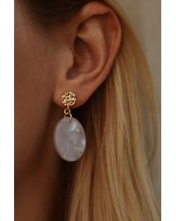 Jasnoniebieska bransoletka z pereł SWAROVSKI® CRYSTAL ze skrzydełkami w kształcie serca z różowego złota
