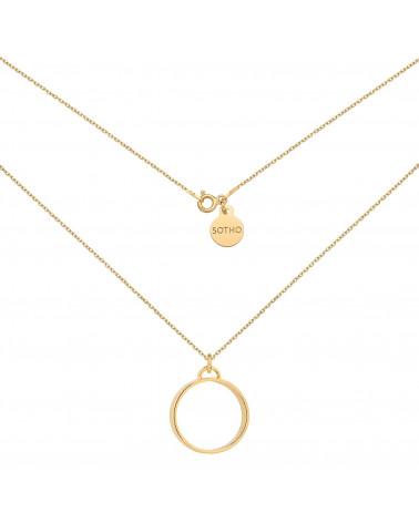 Złoty naszjnik z grubym kółkiem