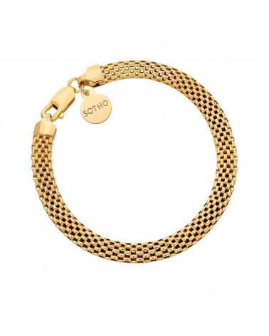 Złota gruba bransoletka