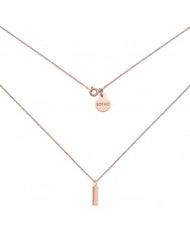 Naszyjnik w różowym złocie z zawieszką