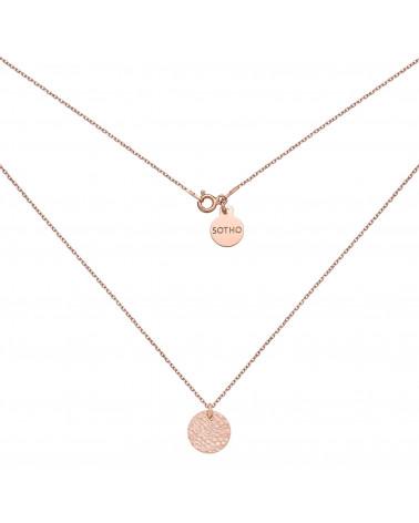Naszyjnik z różowego złota z chrpopowatym kółeczkiem