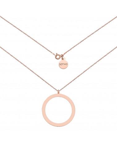 Naszyjnik z różowego złota z dużym kołem