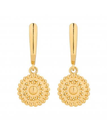 Złote kolczyki z rozetami