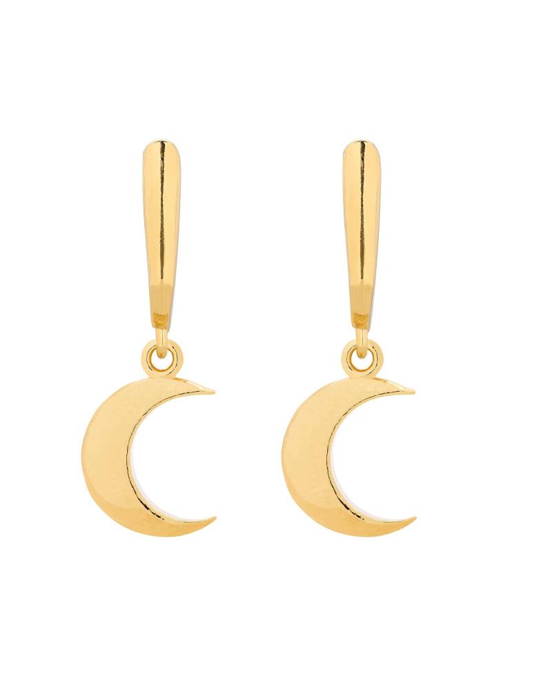 Złote kolczyki z księżycami