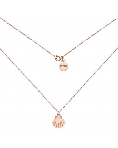 Naszyjnik z muszelką z różowego złota