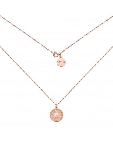 Naszyjnik z różowego złota z medalionem