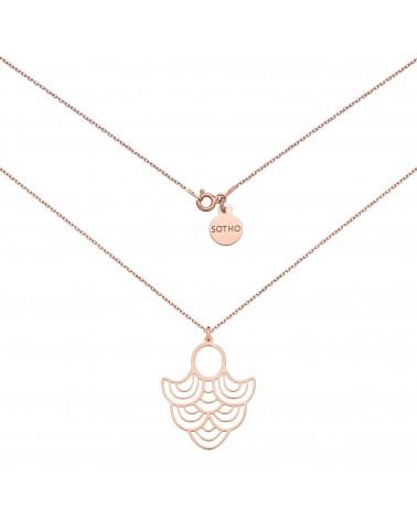 Naszyjnik z różowego złota z rozetą