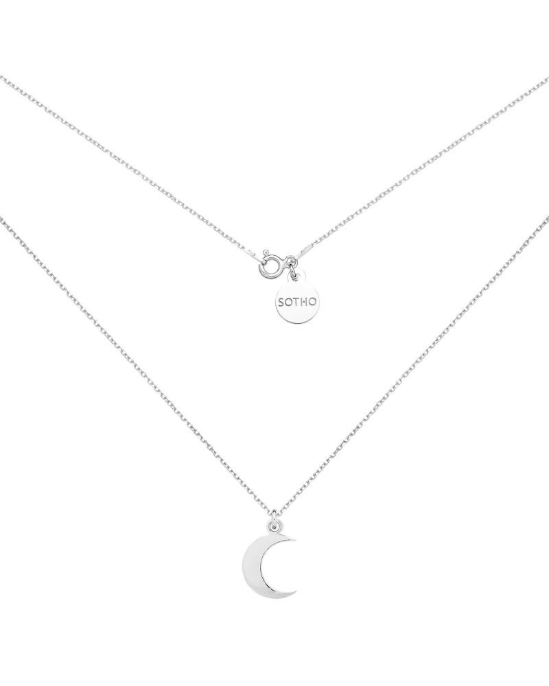Srebrny naszyjnik z księżycem