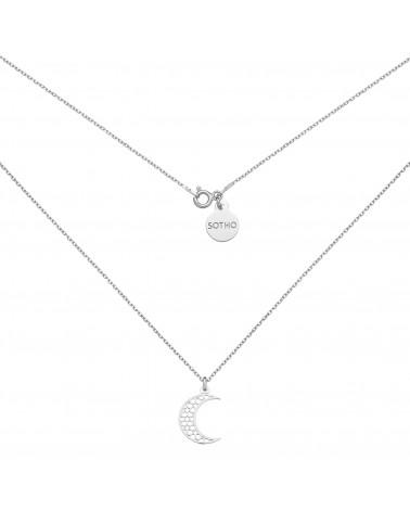 Srebrny naszyjnik z półksiężycem