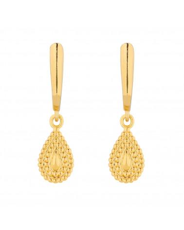 Złote kolczyki z łezkami