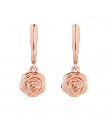 Kolczyki z różowego złota z różami